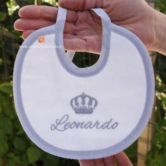 Bavetta bianca e grigia per Leonardo