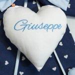 Fiocco nascita blu e azzurro per Giuseppe