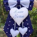 Fiocco nascita blu per Evan
