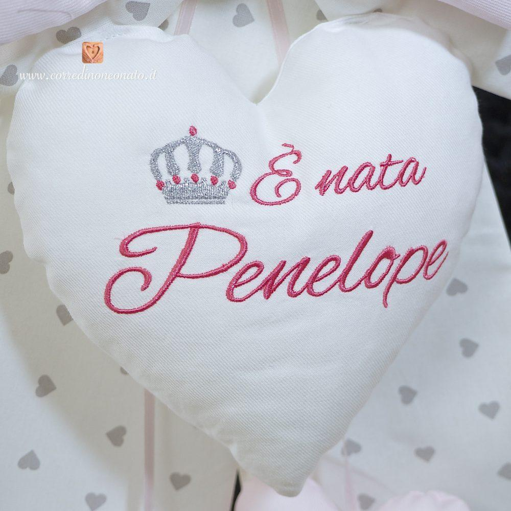 c775cf2e24 Fiocco nascita panna con corona per Penelope: per una nascita ...