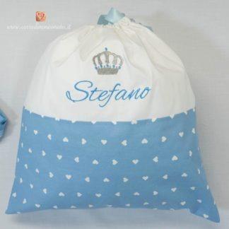 Sacco nascita con corona per Stefano
