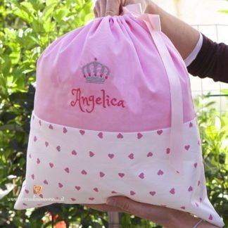 Sacco nascita con corona per Angelica