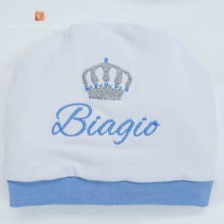 Cappellino di cotone con corona per Biagio