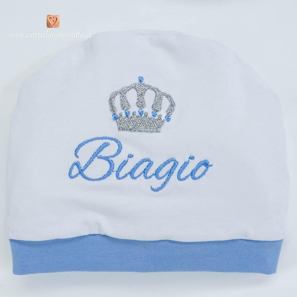 Cappellino di cotone con corona per Biagio  tanti prodotti ... fc78dd24fdb5