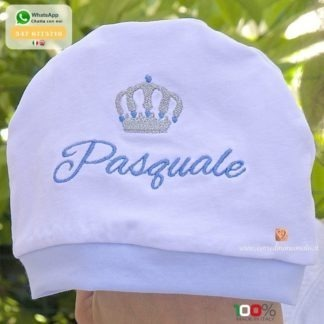 Cappellino con corona per Pasquale