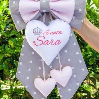 Fiocco nascita per Sara con corona