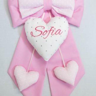 Fiocco con cuore brillanti per Sofia