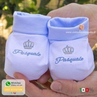 Babbucce con corona per Pasquale