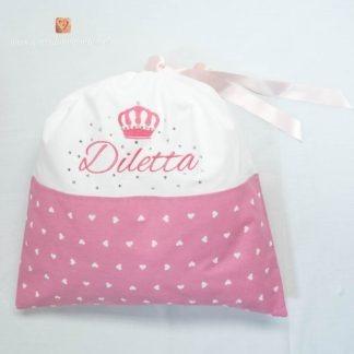 Sacco nascita con brillanti e corona per Diletta