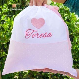 Sacco nascita con cuore per Teresa