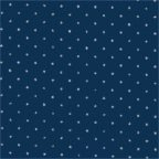 Tessuto di cotone glitterato con strass blu