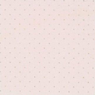 Tessuto di cotone glitterato con strass rosa