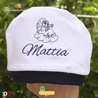 Cappellino neonato estivo con angioletto per Mattia