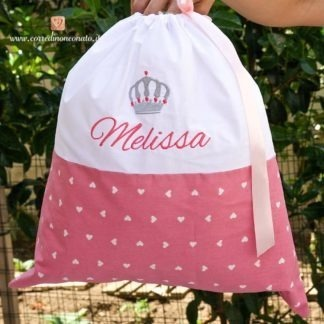 Sacco nascita con corona per Melissa