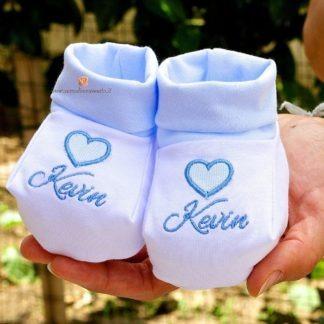 Babbucce di cotone con cuore per Kevin