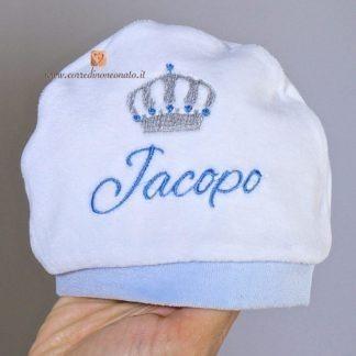 Cappellino di ciniglia con corona per Jacopo