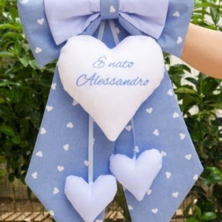 Fiocco nascita azzurro per Alessandro