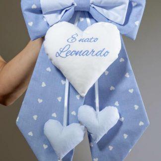 Fiocco nascita azzurro E' nato Leonardo