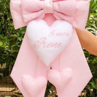 Fiocco nascita rosa chiaro per Irene