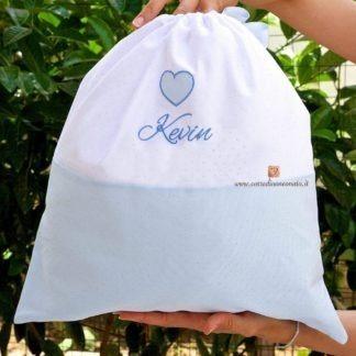 Sacco nascita glitterato con cuore per Kevin