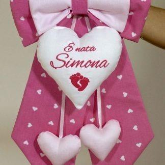Coccarda per la nascita di Simona