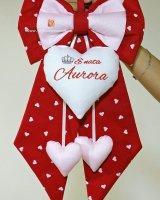 fiocco nascita rosso Aurora