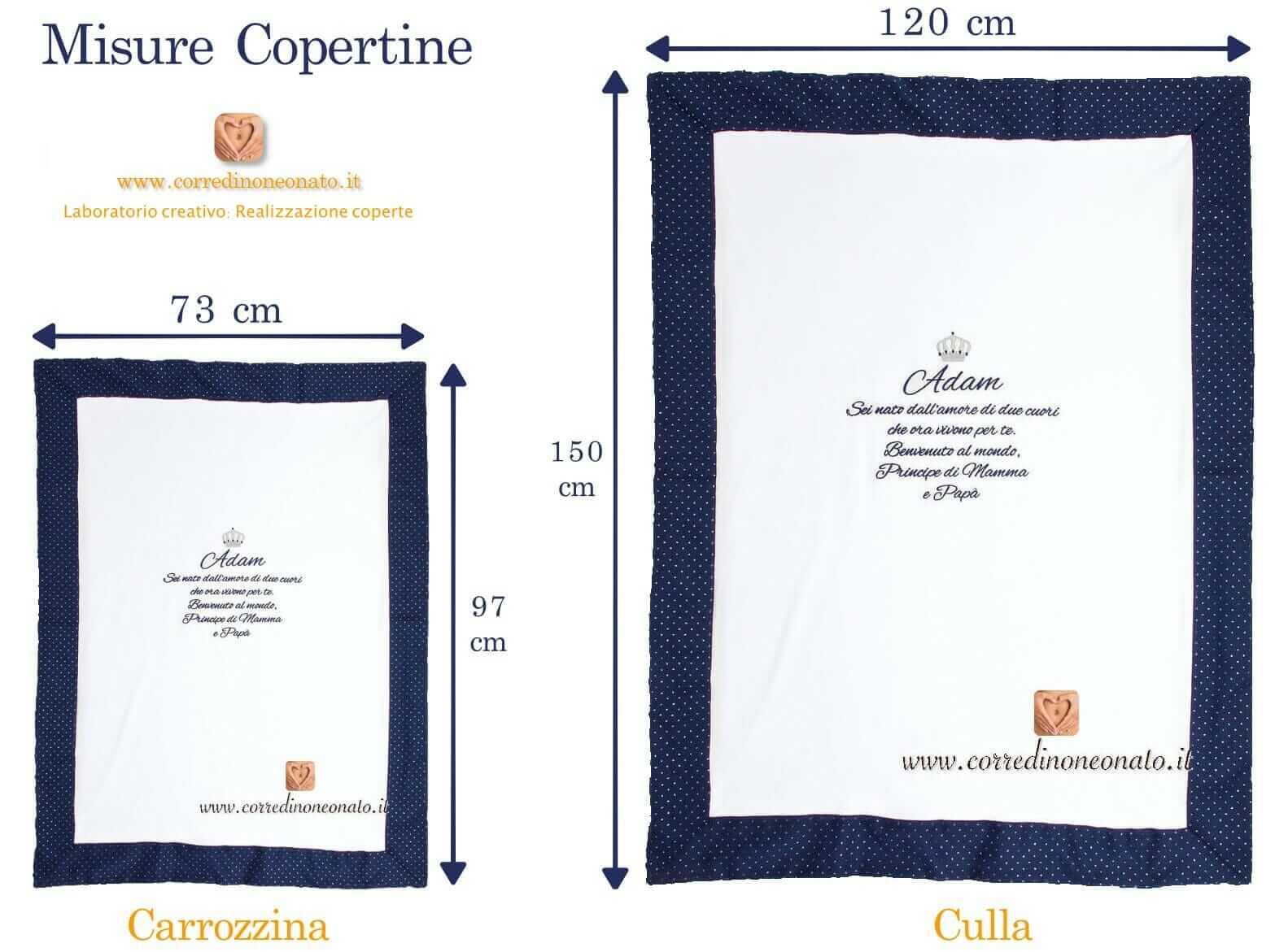 Coperta In Ciniglia Bianca Per La Culla Di Liam Con Nome E Corona Ricamati