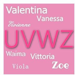 U V W Y Z