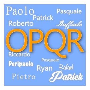 O P Q R