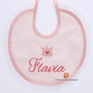 bavetta ricamo nome Flavia