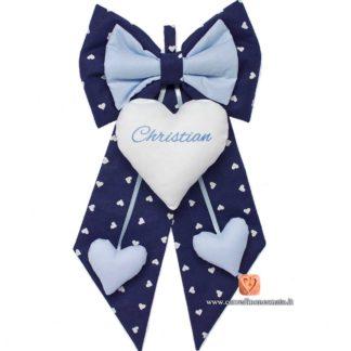 fiocco christian blu azzurro