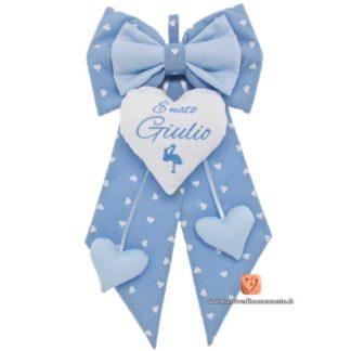 Fiocco nascita azzurro per Giulio