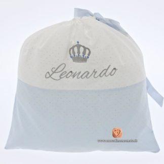 sacco nascita glitterato per Leonardo
