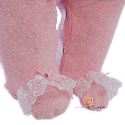 piedini in ciniglia rosa