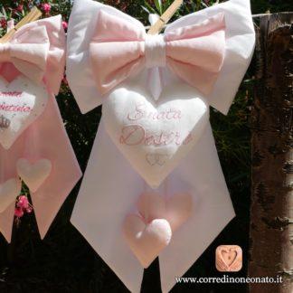 Desire fiocco bianco rosa