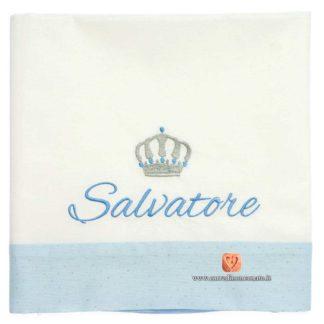 Lenzuolo neonato Salvatore azzurro