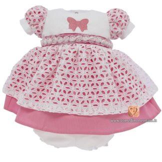 Coprifasce neonata estivo sangallo rosa