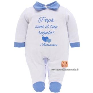 """Tutina neonato Alessandro """"Papà sono il tuo regalo!"""""""
