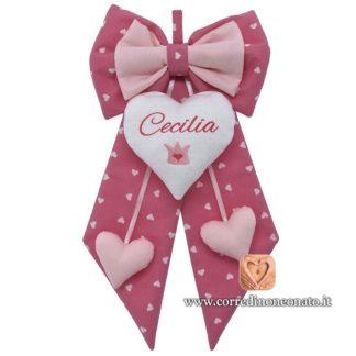 Fiocco nascita Cecilia coroncina
