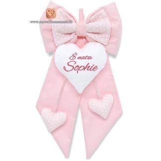 Fiocco nascita Sophie rosa