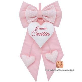 Fiocco nascita Cecilia rosa