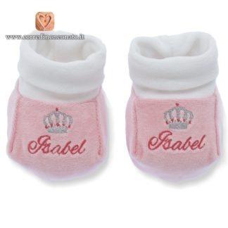 Babbucce ricamate Isabel rosa