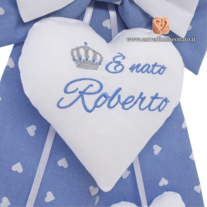 cuore ricamato per Roberto