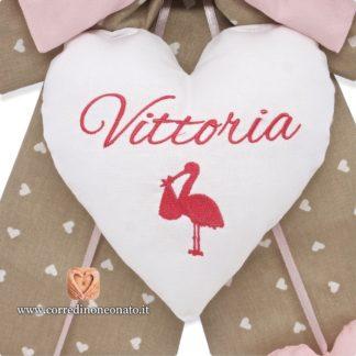 cuore ricamato per Vittoria