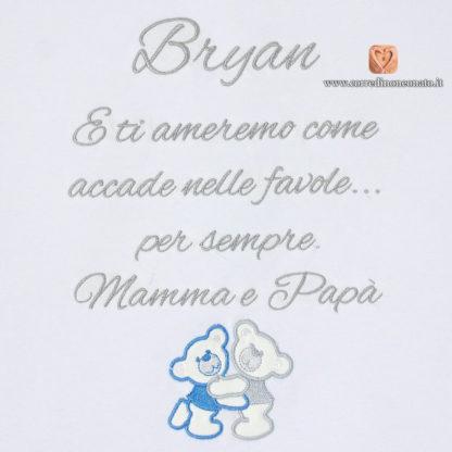 dedica ricamata per Bryan