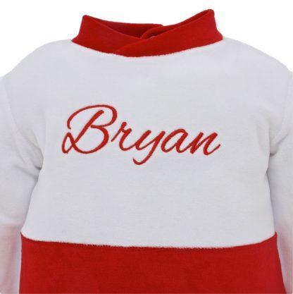 Ricamo Bryan rosso