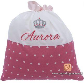Sacco nascita Aurora rosa