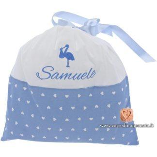 Sacco nascita Samuele cicogna