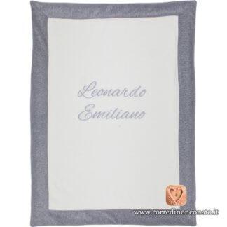 Coperta ciniglia neonato Leonardo Emiliano