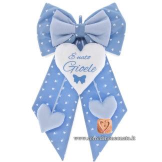 Fiocco nascita Gioele azzurro